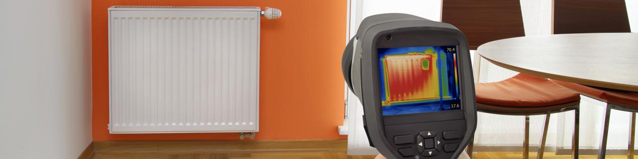 thermal infrared imaging camera inside house